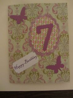 Birthday Card for 7 year old girl