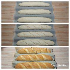 Kovászos baguette | Betty hobbi konyhája Baguette, Hot Dog Buns, Hot Dogs, Hobbit, Bread, Food, Breads, January, Essen