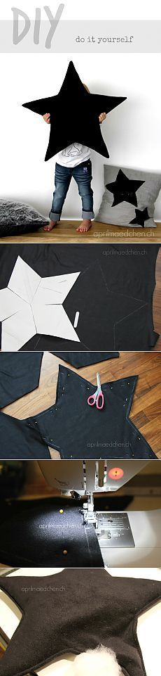 fabric crafts to sell aprilmaedchen Sternenkissen Diy Dusters, Jouet Star Wars, Diy Mode, Pillow Tutorial, Diy Couture, Baby Pillows, Baby Kind, Diy Crafts To Sell, Sell Diy