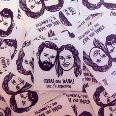 Order a Hand Drawn Custom Portrait Stamp & Tattoo by lilimandrill