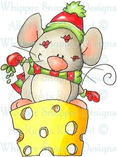 Mistletoe Mouse - Christmas Images - Christmas - Rubber Stamps - Shop