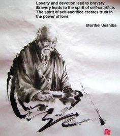 Aikido wisdom from O-sensei Ueshiba