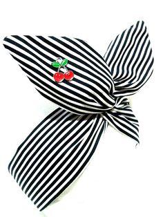 Rockabilly Pin Up Haarband Kopftuch Headband Vintage 50/'s Lila Violett mit Draht
