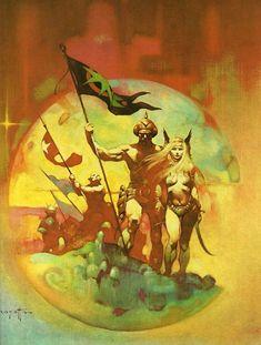 New World by Frank Frazetta from Frank Frazetta Book Four (1981). July 18 2018 at 03:26PM #raypunk