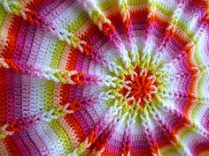 Amazing close up of Crocheted Cushion by sarah london textiles  I just love her work!