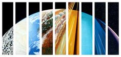 The nine planets (or eight and Pluto) imagined as one: an oil painting by Steve Gildea