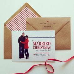 We wish you a MARRIED Christmas Save the Date by gingerpdesigns