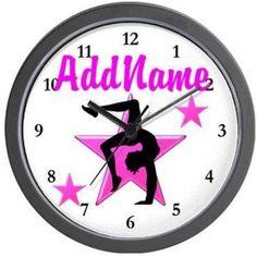 Cafepress Personalized Elegant Gymnast Wall Clock, Multicolor