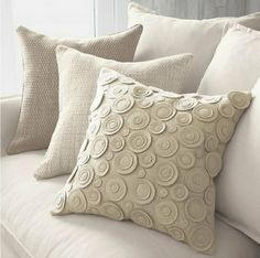 Trendy Sewing For Beginners Pillows 41 Ideas Sewing Pillows, Diy Pillows, Decorative Pillows, Cushions, Throw Pillows, Cream Pillows, Knock Off Decor, Felt Pillow, Crochet Pillow