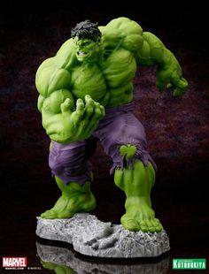 The Kotobukiya Hulk Classic Avengers Fine Art Statue brings Hulk's image right from the comic books onto your book shelf. This scale statue will Avengers Series, Hulk Avengers, Hulk Marvel, Marvel Heroes, Ms Marvel, Marvel Art, Captain Marvel, Marvel Comics, Marvel Comic Universe
