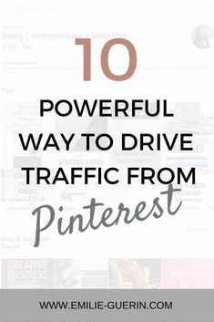 Since I started using Pinterest, I triple my blog traffic. It's my number one social media platform where my readers come from.