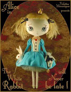 Alice et le lapin blanc http://violettesmecaniques.blogspot.fr/2014_02_01_archive.html