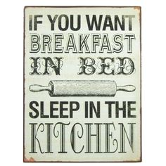 If you want breakfast in bed, sleep in the kitchen :D