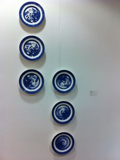 Robert Dawson    Spin Tea Illustration, Ceramic Plates, Spin, Ceramics, Blue, Pottery Plates, Ceramica, Pottery, Ceramic Art