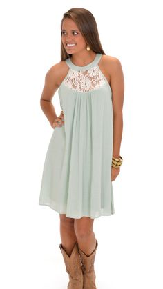 Pearl-spective Dress, Mint :: NEW ARRIVALS :: The Blue Door Boutique