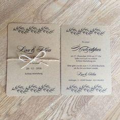 """Hochzeitskarten - Hochzeitseinladung """"nature2"""" - ein Designerstück von moments bei DaWanda"""