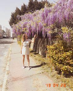 """Gréti 🌸 életmód-divat-smink az Instagramon: """"🐝Gondoltam megosztom az egyik kedvenc tavalyi képemet. 🥰 Úgy szeretem a lilaakácot, kár hogy az illatát nem lehet eltenni. 😄 Egyébként jó…"""" Instagram"""