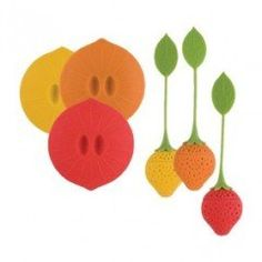nice Trudeau Silicone Tea Infuser & Cup Lid Set (Random Colors) low Here