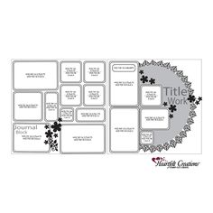 Layout Sketches - 26 Layout Sketches Here! Scrapbook Layout Sketches, Scrapbook Templates, Scrapbook Designs, Card Sketches, Scrapbooking Layouts, Wedding Scrapbook Pages, Scrapbook Journal, Scrapbook Albums, Scrapbook Cards