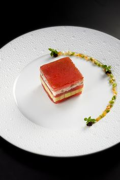 """Tomatoes from Provence """"collection 2013"""", millefeuille with crab meat by Chef Briffard @ Le Cinq"""