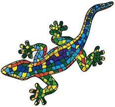 Free Image on Pixabay - Animal, Gecko, Lizard, Reptile Mosaic Garden Art, Mosaic Diy, Mosaic Crafts, Mosaic Projects, Art Projects, Stained Glass Patterns, Mosaic Patterns, Pattern Art, Gaudi Mosaic