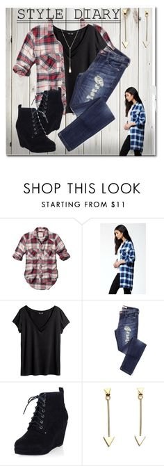 """Flannel love"" by tanyaf1 ❤ liked on Polyvore featuring Abercrombie & Fitch, Volcom, H&M and Jon Richard"