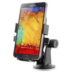 Acessório iOttie One Touch XL Windshield Dashboard Car Mount Holder for Galaxy S4, Galaxy Note 3/2 - Retail Packaging - Black #Acessório #iOttie One