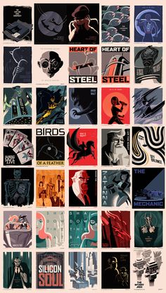 Batman The Animated Series Title Card posters by GEORGE CALTSOUDAS 2/2
