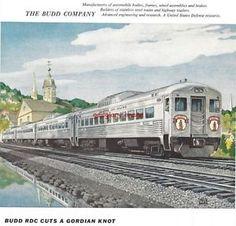 1955 Budd Company Railroad Supplier Vintage Print Ad RDC's on Boston and Maine | eBay
