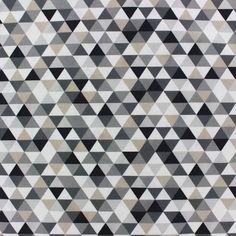 Tissu coton Trimix noir/gris x 10cm