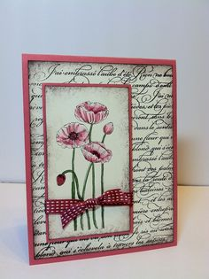 Stampin Up ideas using Pleasant Poppies Stamp Set