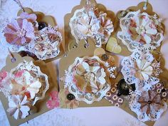 Shabby chic gift tags Floral gift tags Gift tag by littledebskis