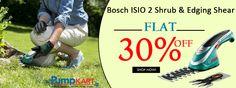 Save Minimum Rs.3, 089.70 on #Bosch ISIO 2 #Shrub & Edging Shear| Buy Compact & Lightweight #Tool Online at Pumpkart.com
