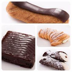 Cannoli, Lobster tail, brownie e Eclair de creme de baunilha. Já experimentou as delícias da Carlo's Bakery em SP? A única loja do Cake Boss fora dos EUA. #cakeboss #carlosbakery #desserts #postres #confeitaria