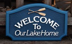 Items similar to Non custom Lake House Sign Housewares Sign Welcome home decor sign plaque wall hanging custom sign name sign wall personal sign cabin sign on Etsy Lake House Signs, Cabin Signs, Cottage Signs, Mountain Cottage, Lakeside Cottage, Lakeview Cabin, Vintage Cabin, Home Decor Signs, Lake Life