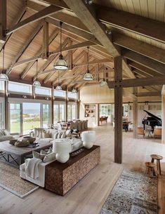 Wooden beamed beach house