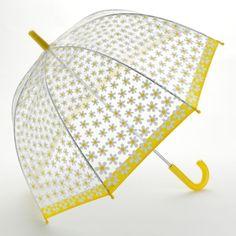 Yellow daisy bubble umbrella!