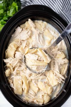 Feb 2019 - This Crockpot Chicken and Dumplings Recipe is easy to make and full of old fashioned goodness with delicious flat rolled dumplings made from scratch. Crockpot Chicken And Dumplings, Easy Crockpot Chicken, Chicken Recipes, Crockpot Stuffing, Chicken Cooker, Turkey Recipes, Slow Cooker Recipes, Crockpot Recipes, Cooking Recipes