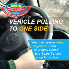 Is your car now tending to pull or drift to the left or right? Visit United Tyre Sales & Service for a free check up ! #FreeCheckUp #WheelBalancing #WheelAligment #Wheel #Ahmedabad
