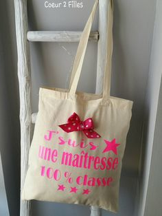 Designed tote bags from SnapMade - Choose your favorite design from a variety of custom bags. Funny Teacher Gifts, Teacher Christmas Gifts, Tod Bag, Kids Tote Bag, Alphabet, Goodbye Gifts, Diy Sac, Vinyl Gifts, Custom Bags