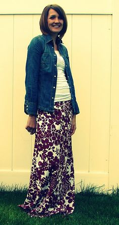 maxi skirt tutorial - wide elastic band.  For when I get that sewing machine