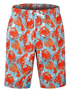 8a61b32e40 Men's Swim Trunks Colorful Green Printing Hawaiian Beach Shorts - Hwp016 -  C7186G2T7I6