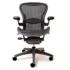 70c27f0ceb15 Amazon.com  Herman Miller Classic Aeron Task Chair  Highly Adj w Lumbar Pad  - Tilit Limiter w Seat Angle Adj - Fully Adj Vinyl Arms - Carpet Casters  .