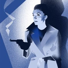 This is a little piece I'm working on for a different project at the moment. No poster of Irish molls immenent! #filmnoir #justforfun #ireland #posters #irelandposters #illustration by irelandposters.ie