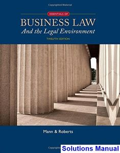 Microeconomics 12th edition solutions manual michael parkin free solutions manual for essentials of business law and the legal environment 12th edition by mann fandeluxe Images