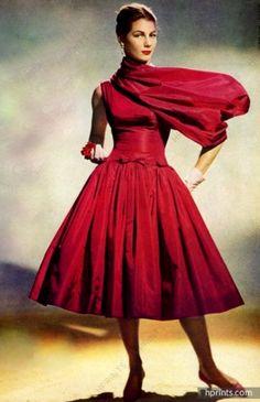 Givenchy 1956 Photo Guy Arsac, Summer Dress.