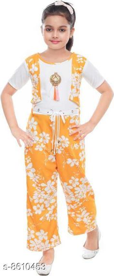 Jumpsuits New Stylish Jumpsuits For Girls Fabric: Cotton Blend Sleeve Length: Short Sleeves Pattern: Printed Multipack: 1 Sizes:  4-5 Years (Bust Size: 25 in Length Size: 30 in Hip Size: 25 in Waist Size: 22 in)  5-6 Years (Bust Size: 26 in Length Size: 32 in Hip Size: 26 in Waist Size: 23 in)  11-12 Years (Bust Size: 32 in Length Size: 42 in Hip Size: 32 in Waist Size: 30 in)  3-4 Years (Bust Size: 23 in Length Size: 28 in Hip Size: 23 in Waist Size: 21 in)  8-9 Years (Bust Size: 30 in Length Size: 38 in Hip Size: 30 in Waist Size: 26 in)  6-7 Years (Bust Size: 27 in Length Size: 34 in Hip Size: 27 in Waist Size: 24 in)  7-8 Years (Bust Size: 29 in Length Size: 36 in Hip Size: 29 in Waist Size: 25 in)  9-10 Years (Bust Size: 31 in Length Size: 40 in Hip Size: 31 in Waist Size: 28 in)  Country of Origin: India Sizes Available: 2-3 Years, 3-4 Years, 4-5 Years, 5-6 Years, 6-7 Years, 7-8 Years, 8-9 Years, 9-10 Years, 11-12 Years   Catalog Rating: ★4 (4516)  Catalog Name: New Stylish Jumpsuits For Girls CatalogID_1461234 C62-SC1156 Code: 672-8610453-336