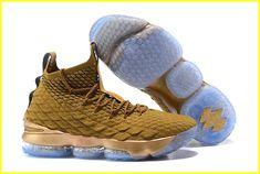 1b27d8e50bce Elegant Shape Nike LeBron 15 Pride of Ohio Gold Men s Sneakers Basketball  Shoes