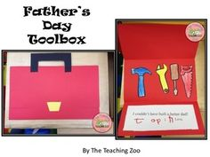 Father's Day Toolbox Card Craftivity by The Teaching Zoo Bible Crafts For Kids, Fathers Day Crafts, Preschool Crafts, Infant Activities, Learning Activities, Activities For Kids, Teaching Resources, Father's Day Card Template, Grande Section