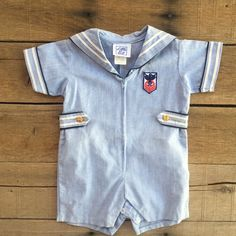 Check out this listing on Kidizen: #vintage #nautical Romper | 18 Months #shopkidizen